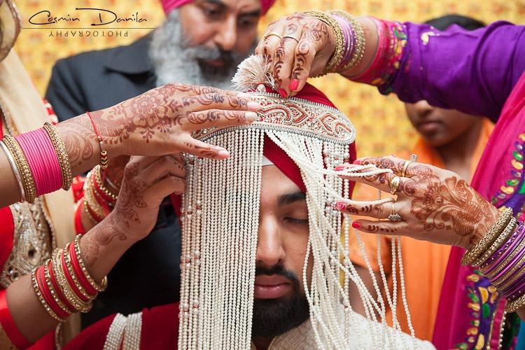 Sikh wedding Tradition Sehra Bandi