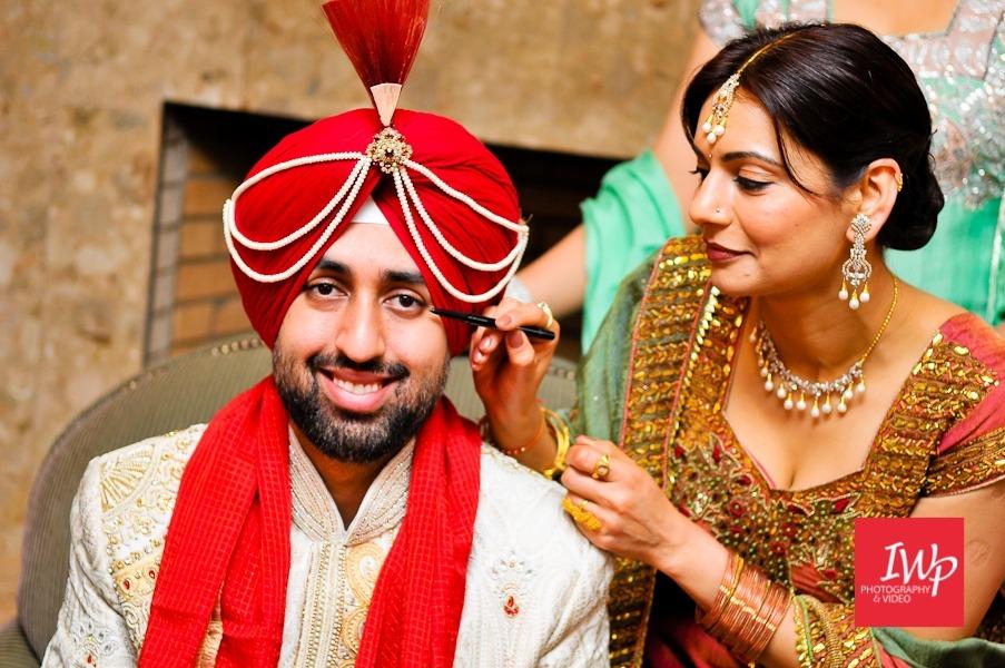 Sikh wedding Tradition Soorma and Kalgi