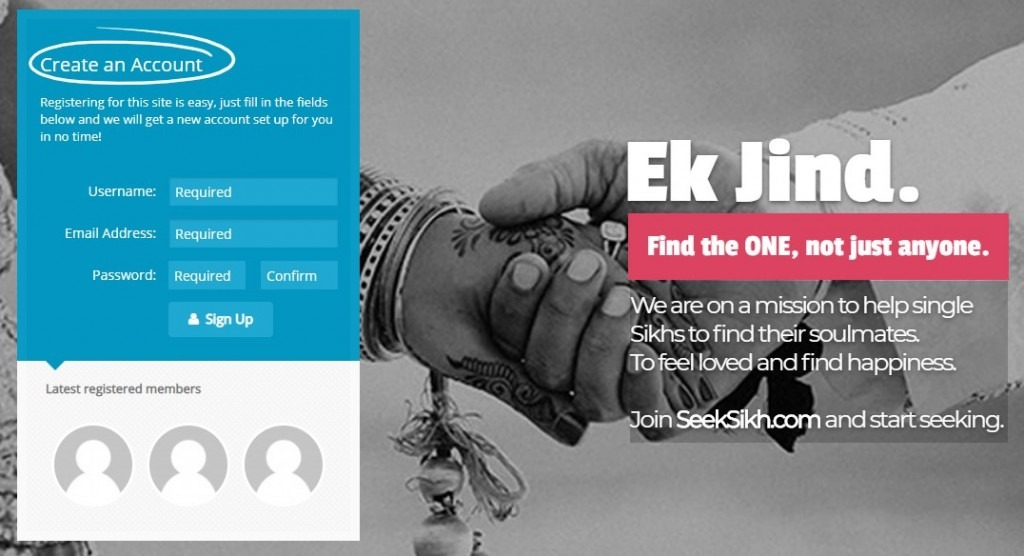 SeekSikh Registration Image